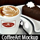 Coffee Art &amp;amp; Brand Mockup - GraphicRiver Item for Sale