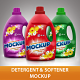 Detergent & Softener Bottle Mockup - GraphicRiver Item for Sale