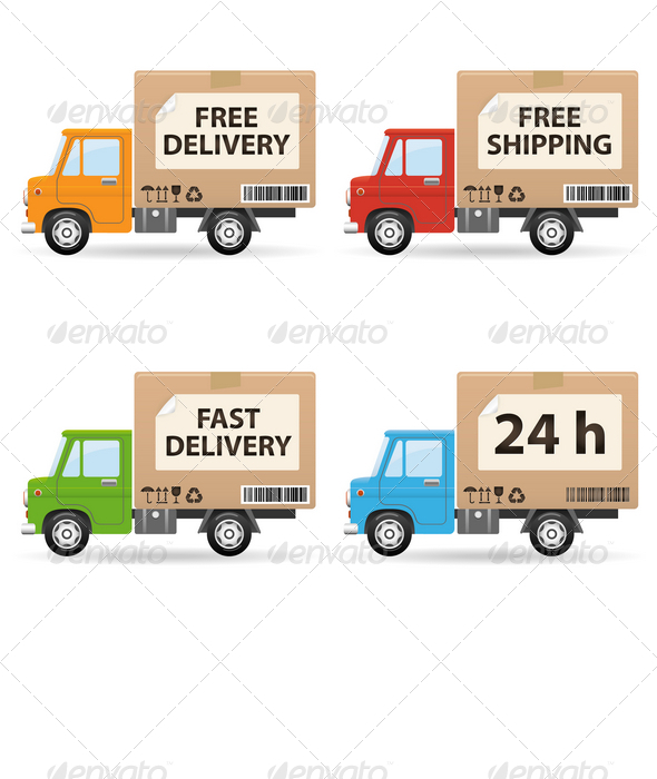 Graphic River Delivery truc Vectors -  Conceptual  Commercial / Shopping  Services 759990