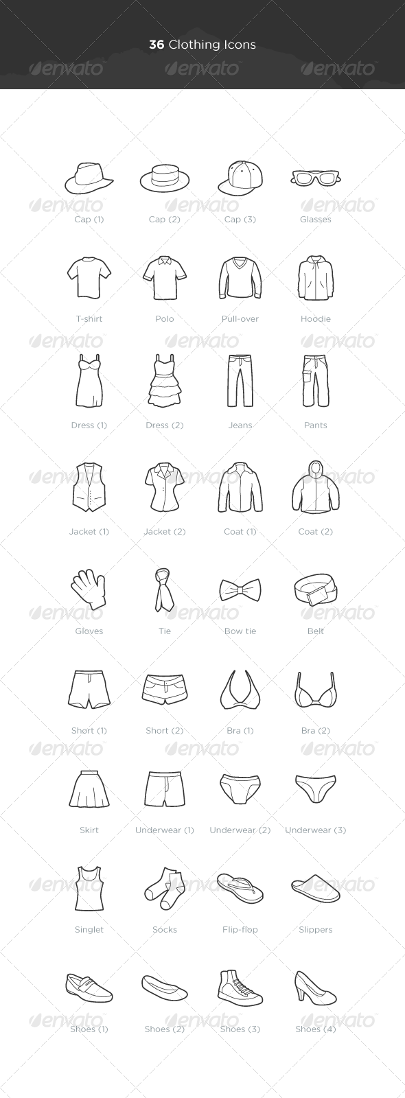 Clothing Icons - Objects Icons