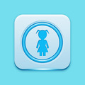 Blue icon edge light - PhotoDune Item for Sale