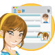 Online Social Media Girl Chatting - GraphicRiver Item for Sale
