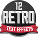 12 Various 3D Retro & Vintage Text Effects Pack - GraphicRiver Item for Sale