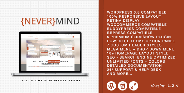 Nevermind - Multi Purpose Wordpress Theme