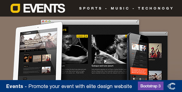 Events Music, Sport, Techno HTML5/CSS3 - Business Corporate