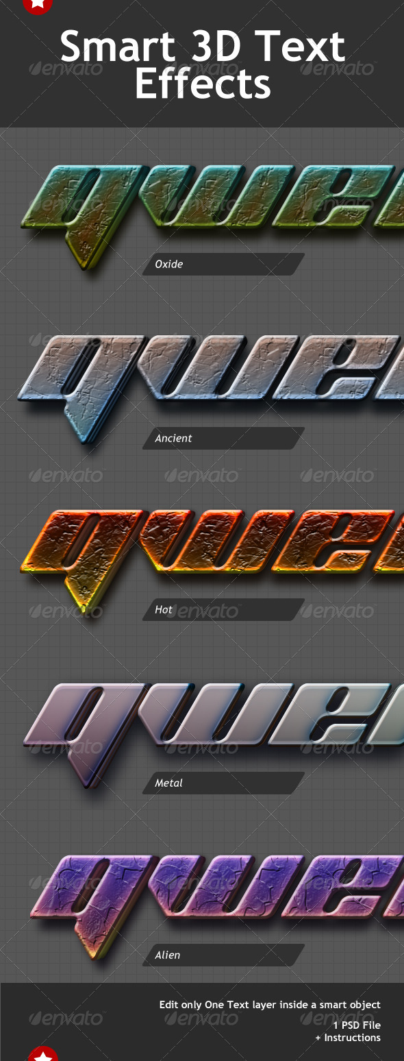 Smart 3D Text Effects - Miscellaneous Graphics