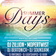 Summer Days Flyer - GraphicRiver Item for Sale