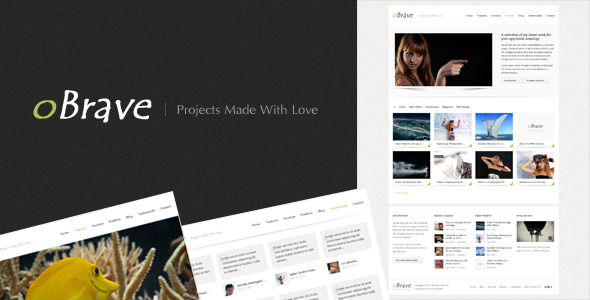 oBrave - Portfolio Wordpress Theme