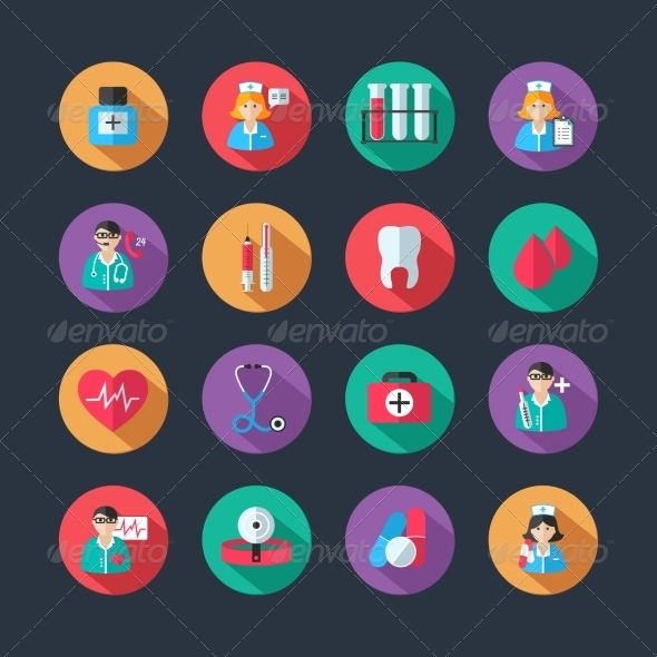 GraphicRiver Medical Icons and Doctor Avatars Set 7354138