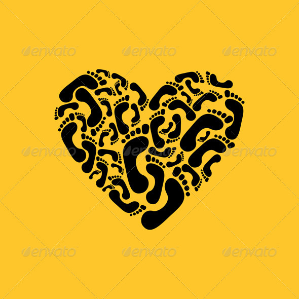 Graphic River Heart a trace Vectors -  Conceptual  Seasons/Holidays  Valentines 761696