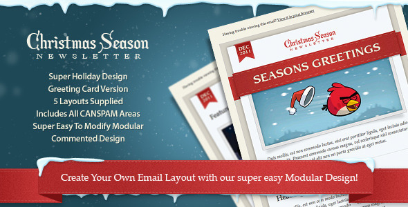 Christmas Seasons Email Templates Holidays Cards