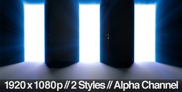 [VideoHive 762228] Multiple Doors Open for a Choice & Alpha Channel | Motion Graphics