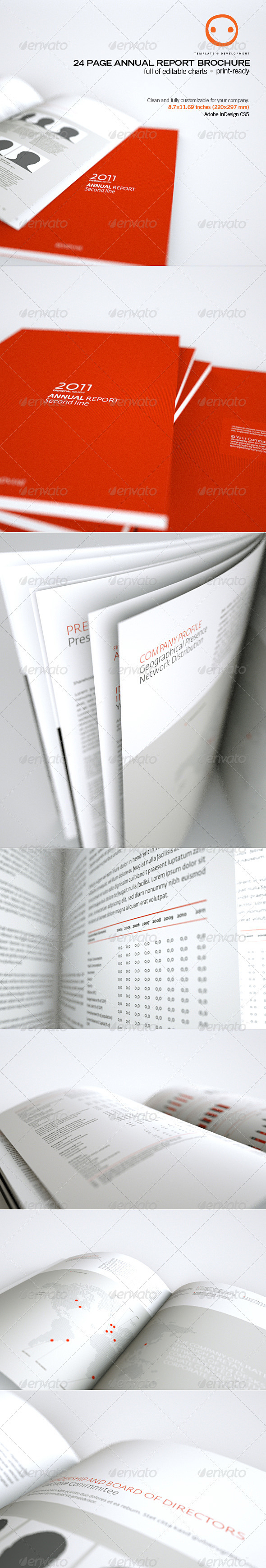24 Page Annual Report Brochure - Informational Brochures