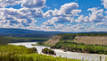 Five Finger Rapids landscape Yukon River Canada - PhotoDune Item for Sale