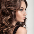 Beautiful Brunette Woman. Curly Long Hair. - PhotoDune Item for Sale