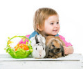 baby with rabbits - PhotoDune Item for Sale