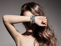Fashion Portrait Of Beautiful  Woman With Jewelry - PhotoDune Item for Sale