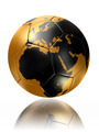 gold soccer ball globe world map europe africa - PhotoDune Item for Sale