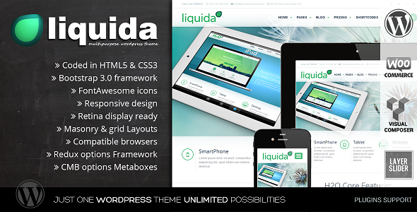 Liquida -  Responsive MultiPurpose WordPress Theme - Corporate WordPress