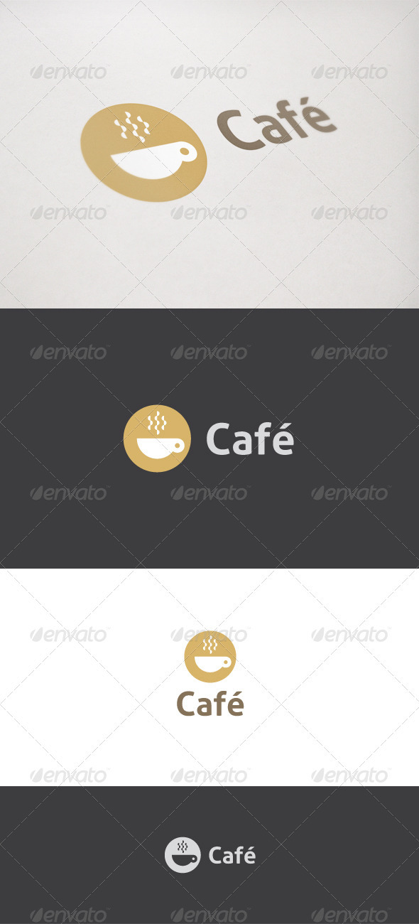 GraphicRiver Cafe Coffee Logo 763220