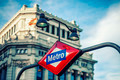 Metro Station Sign in Madrid - PhotoDune Item for Sale