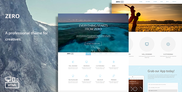 ThemeForest Zero Responsive Multi-Purpose HTML Theme 7384346