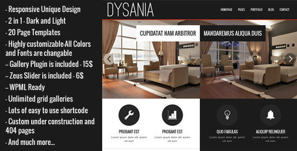 Dysania - Responsive Multi-Purpose WordPress Theme - Business Corporate