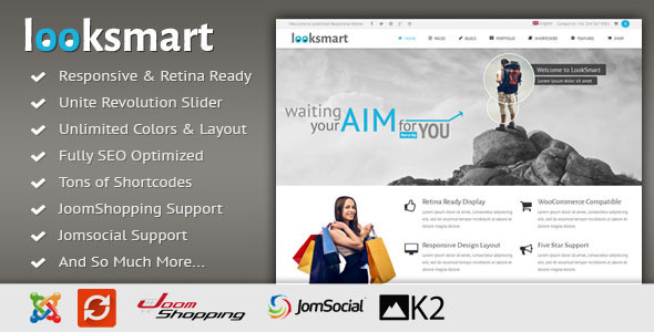 ThemeForest LookSmart Responsive Multi-Purpose Joomla Theme 7384561