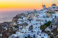 Oia village sunset in Santorini island - PhotoDune Item for Sale