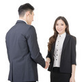 Business woman and man shake hands - PhotoDune Item for Sale