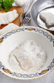 cod filet in flour placed - PhotoDune Item for Sale