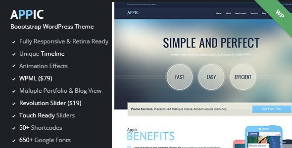 ThemeForest Appic Business & Technology WordPress Theme 7404912