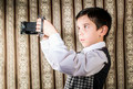 Child taking pictures with vintage camera - PhotoDune Item for Sale