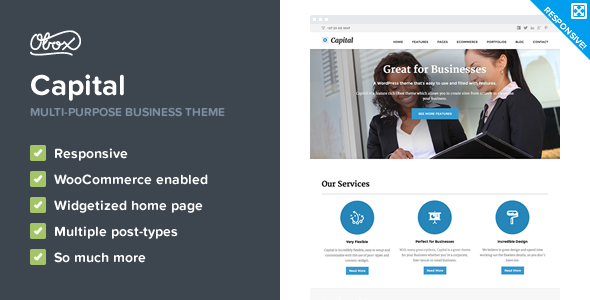 Capital - Multi-Purpose Business WordPress Theme - Corporate WordPress