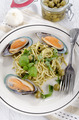 green lipped mussels with spaghetti - PhotoDune Item for Sale