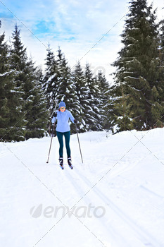 cross-country skiing - PhotoDune Item for Sale