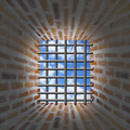 Prison's window and bars in wall from brick - PhotoDune Item for Sale