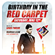 Birthday in the Red Carpet Flyer Template - GraphicRiver Item for Sale