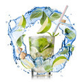 mohito - water splash with mint, lime and sugar isolated on whit - PhotoDune Item for Sale