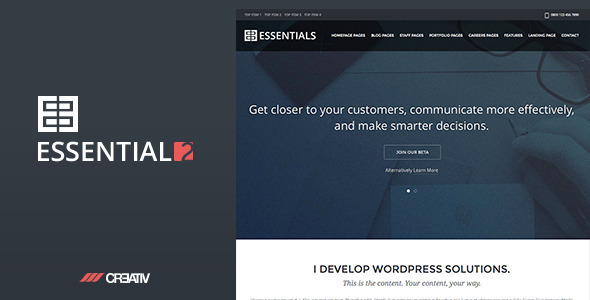 ThemeForest Business Essentials 2 Premium WordPress Theme 7419620