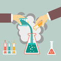 chemical experiment illustration - PhotoDune Item for Sale