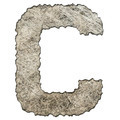 old scratched metal letter C isolated on white background - PhotoDune Item for Sale