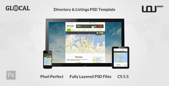 GLOCAL - Directory PSD Template - Miscellaneous PSD Templates