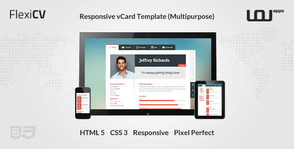 FlexiCV - Responsive vCard Template (Multipurpose)