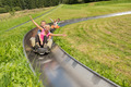 Couples Enjoying Alpine Coaster Luge - PhotoDune Item for Sale
