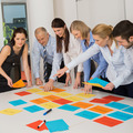 Business Team Brainstorming Using Color Labels - PhotoDune Item for Sale