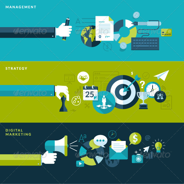 GraphicRiver Flat Design Concepts for Business and Marketing 7424372
