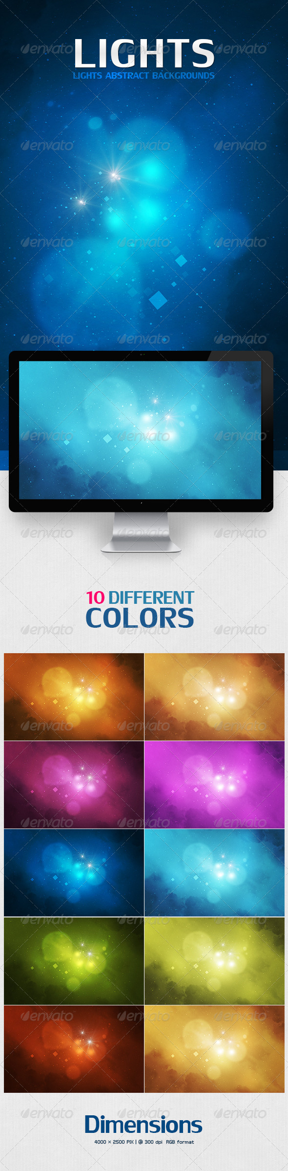 GraphicRiver Lights Abstract Backgrounds 7424410