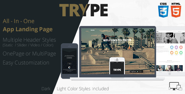 ThemeForest TRYPE All In One App Landing Page 7424777