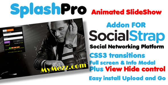 CodeCanyon SplashPro full screen slider addon for SocialStrap 7426230